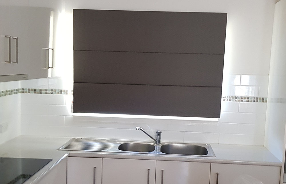 roman blinds brisbane kitchen