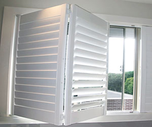 Polymer Plantation Shutters in White