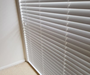 Example of White Econowood Timber Venetian Blinds